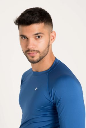 Buzo Compression Azul